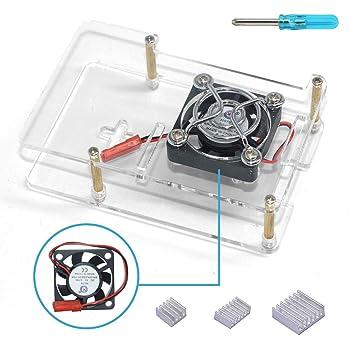3B Custodia in Alluminio Lega Custodia protettiva con ventola per Raspberry Pi 3 B Più