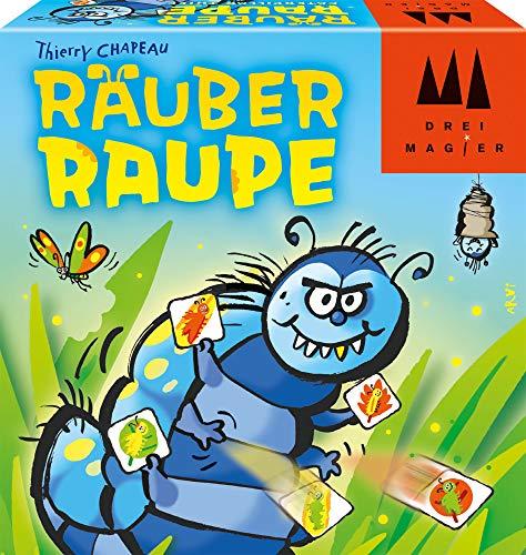Schmidt Spiele 40886 Räuber Raupe, DREI Magier Kartenspiel, bunt