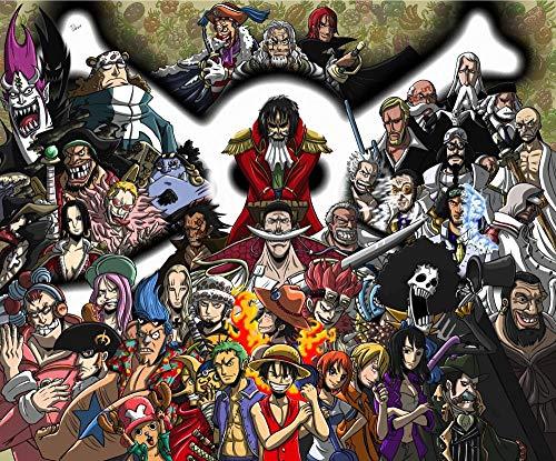 Slbtr [Últimas Noticias] DIY Lienzo Pintura - One Piece Legend -Pintura por Numero Kits Decoración del Hogar 16*20 Pulgadas Regalos para Principiantes Amigos Y Niños En Pintura- Sin Marco