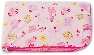 Genio Baby Sherpa Baby Blanket 30 x 40 Soft- Perfect for Swaddling and Strolling - Plush Blanket for Girls (Jungle Pink)