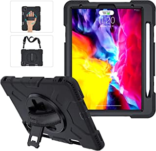 iPad Pro 11 Case 2020 & 2018 with Apple Pencil Holder, Military Grade 15ft Drop Tested Heavy Duty Silicone Protective Cove...