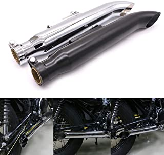 Motorcycle Universal Exhaust Pipe Muffler Silencer For Harley Dyna Softail Fatboy Road King FLHR Sportster 1200 883 (Black)