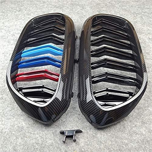 Autorennen-Grills Frontstoßstange Grille Ersatz G30 G38 Frontstoßstange Grill Fit For BMW 5er M5 G31 520i 530i 540i ABS 2-Lamelle Gloss Black Front Ierengitter (Color : Dark Grey)