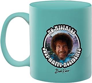 Aquarius Bob Ross Happy Mistakes 11 Oz Boxed Ceramic Mug