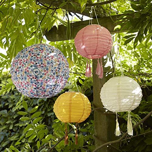 Lights4fun 4er Set Solar Lampions bunt Gartenbeleuchtung