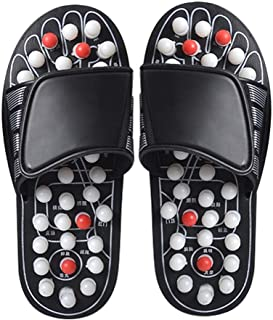 MaiYi Acupressure Foot Therapy Massage Slippers Sandals Health&Reflexology Shoes Flip Flops with 82 Removable Rotating Acupuncture Points for Plantar Fasciitis