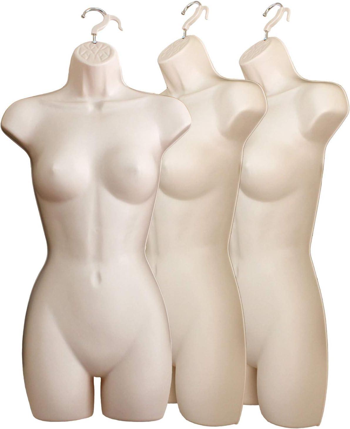 S-M Sizes 4 Flesh Mannequin Forms Male Female Child /& Toddler Torso Set /& Hanging Hook
