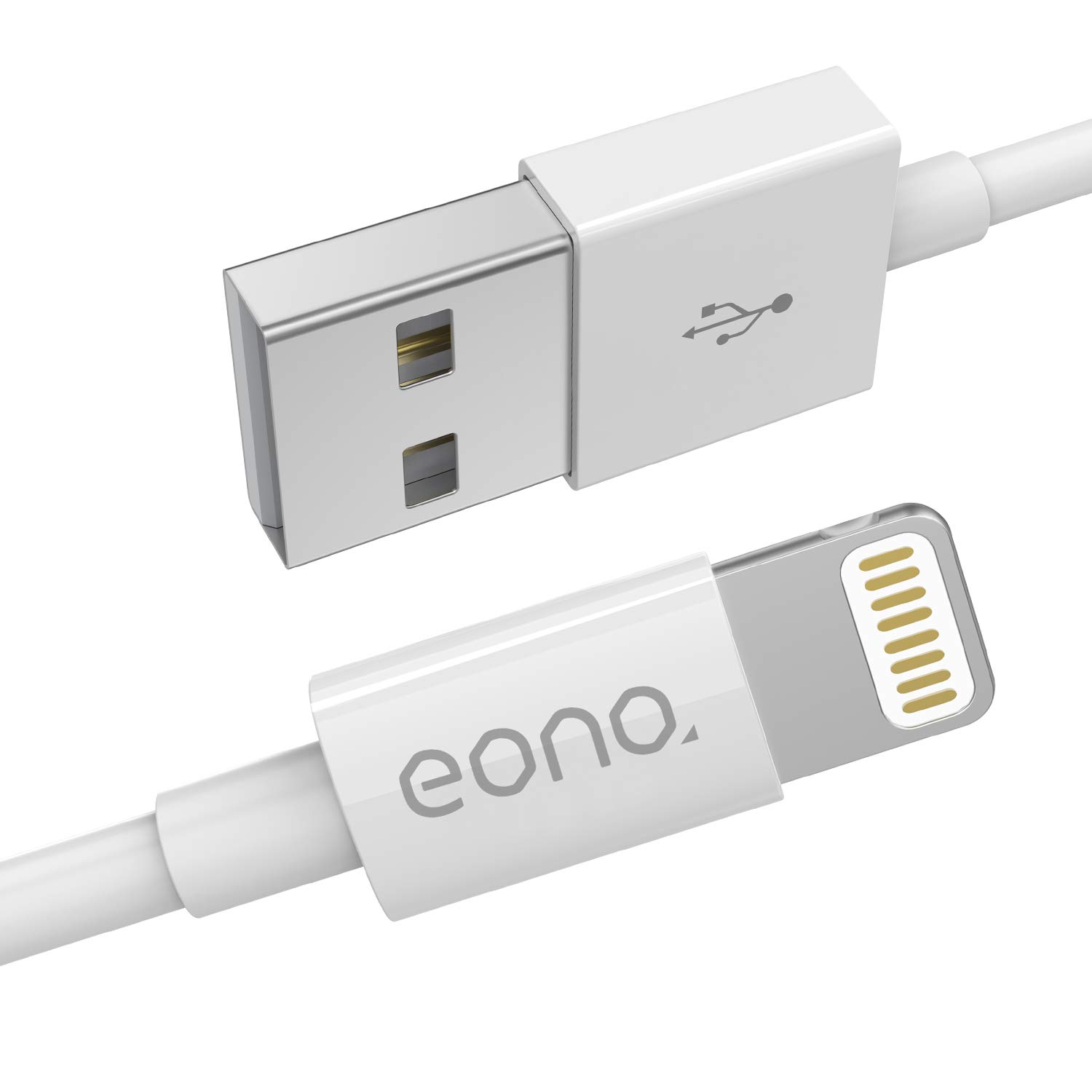 IPHONE LIGHTNING CHARGEUR CHARGER BRAIDED CABLE 1M IPHONE 5 6 7 8 X iPAD WHITE