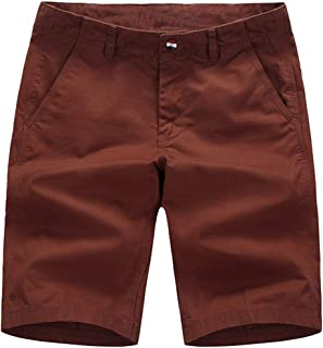 Voncheer Mens Flat Front Classic Fit Summer Casual Work Shorts with 4 Pockets