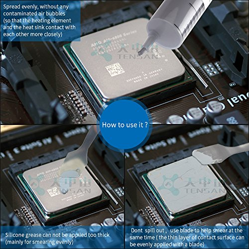 Thermal Paste,Thermal Compound,20G 2.5.0w/m.k CPU Compound with High Thermal Conductivity is Widely Used by CPU GPU LED Field