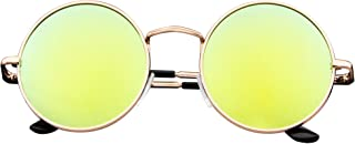 John Lennon Inspired Sunglasses Round Hippie Shades Retro Colored Lenses