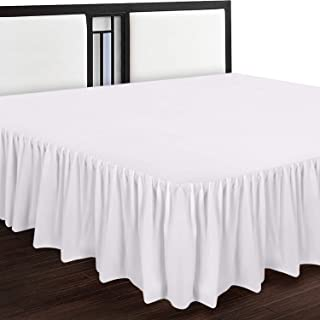 Utopia Bedding Bed Ruffle – Dust Ruffle – Easy Fit with 16 Inch Tailored Drop..