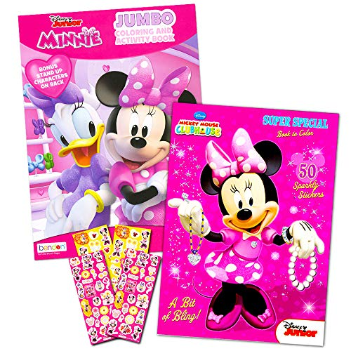 Disney Minnie Mouse Coloring Book Set with Stickers -- 2...