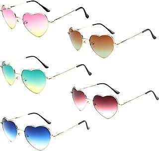 Men's and Women's Sport Polarized Sunglasses Metal Frame Ladies Heart Shape Sunglasses Love Eyewear