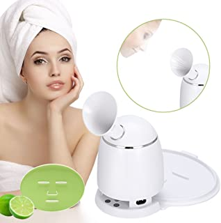 Facial Mask Machine with Steamer Function 2 in 1 Multi-function Automatic DIY Natural Fruit and Vegetable Mask Maker(US Plug)