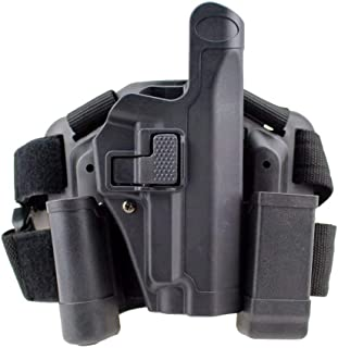 quanlei Quick Tactical Right Hand Paddle Belt Leg Thigh Hard Drop Level 2 Holster for Sig Sauer P226 P229
