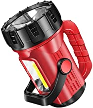 LKNJLL High Lumen Powerful Rechargeable Spotlight Flashlight LED Super Bright Searchlight 10000mah Hand Held Spot Search L...