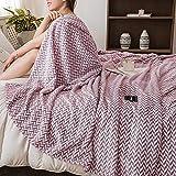 FLORYARD Manta bohemia para sofá, cama, silla, oficina, sala de estar, cama grande, tamaño king, morado, 150 x 200 cm
