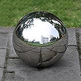 Prokth - Bolas de acero inoxidable 304 huecas flotante para estanque, sin bordes, esfera de bola de espejo para decoración de jardín en casa., acero inoxidable, Plateado, 300 mm