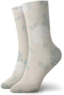 tyui7, Calcetines de compresión con flores florales retro Calcetines de compresión antideslizantes Calcetines deportivos de 30 cm acogedores para hombres, mujeres, niños