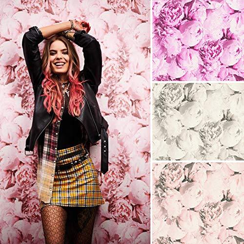 Romantische Rosentapete Altrosa Vintage Blumentapete Fototapete Botanica Wandbild Pfingstrose (10.05 m x 0.53 m, Rosen creme, rosa)