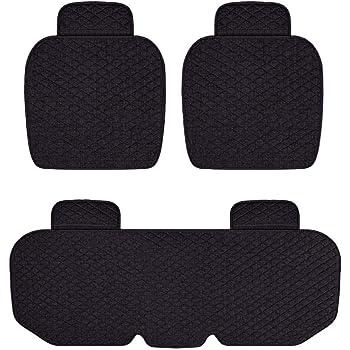 Hcmax Luxus Weich Autositzüberzug Kissen Pad Matte Schutz Für Autozubehör Für Limousine Fließheck Suv 2 1 Vordersitzbezüge Und Rücksitzbezüge Auto
