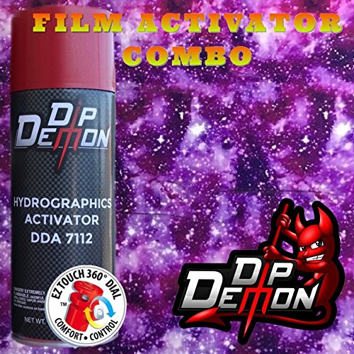 Hydrographic Film Galaxy Combo Kit Galaxy #3 Purple Stars Hydro Graphic Water Transfer Film Activator Hydro Dipping Dip Demon Hydrographics