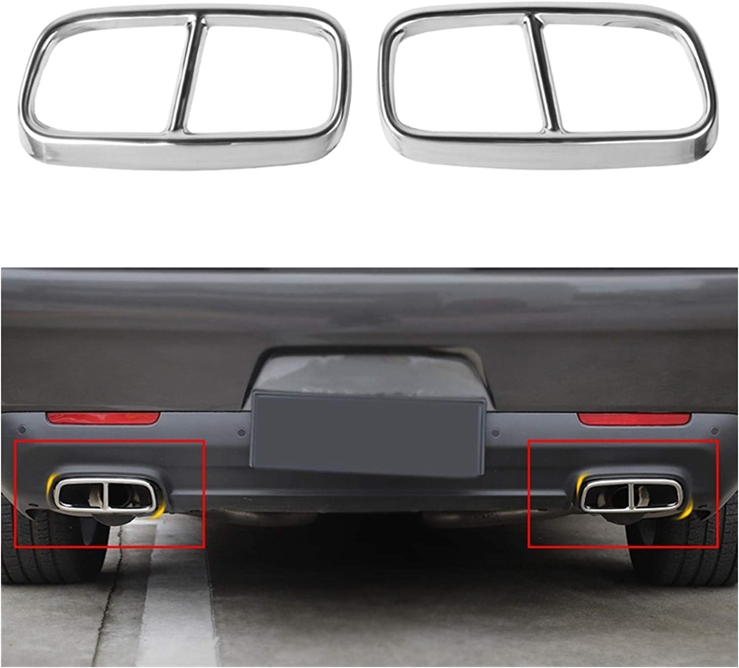 WRDD Exhaust Tail Tip Mail order cheap for S Stainless 2015-2020 Challenger Dodge Max 60% OFF