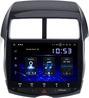 Dasaita 10.2 Pouces Android 10.0 1 Din Autoradio Bluetooth Carplay Intégré pour Mitsubishi ASX 2007 à 2018 Citroen C4 Airc...