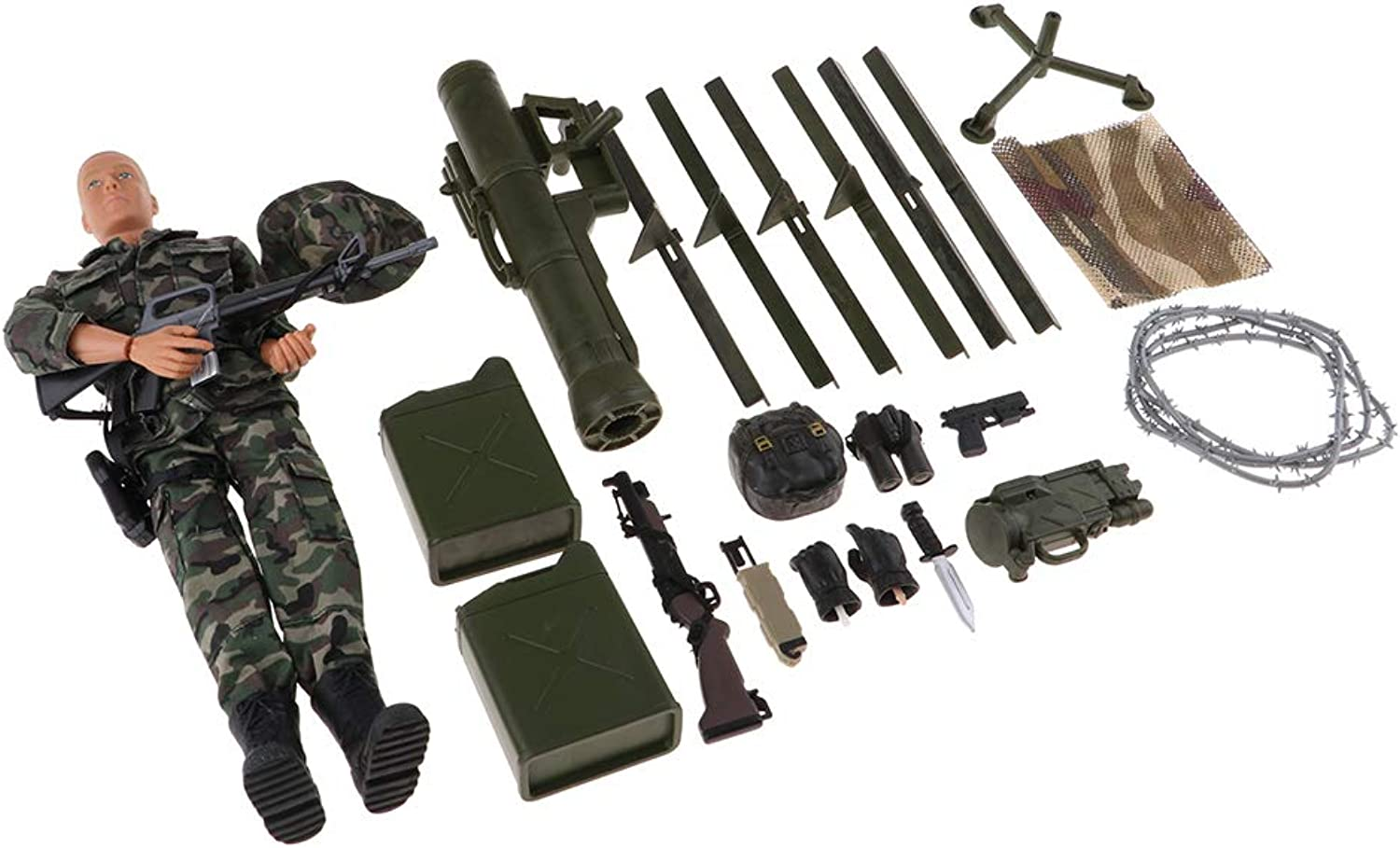 Fityle 1 6 12inch Movable Action Figure Doll Military Army Combat Soldier Model Clothes Set Toy