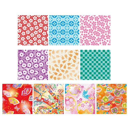 """Origami Paper - Washi Chiyogami Style, 300 Sheets�3, (900sheets) 10 Designs - MINI Size (3"""" Square) (Japan Import) Photo #3"""