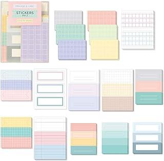 Monolike Message & Label Sticker ver.2 Set - Mini Size Cute Stickers, Index Stickers
