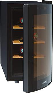 H.Koenig AGE8WV - Vinoteca 8 Botellas Pequeña Con Capacidad de 25 Litros 70 W Silenciosa 41 dB 3 Estantes de Madera...