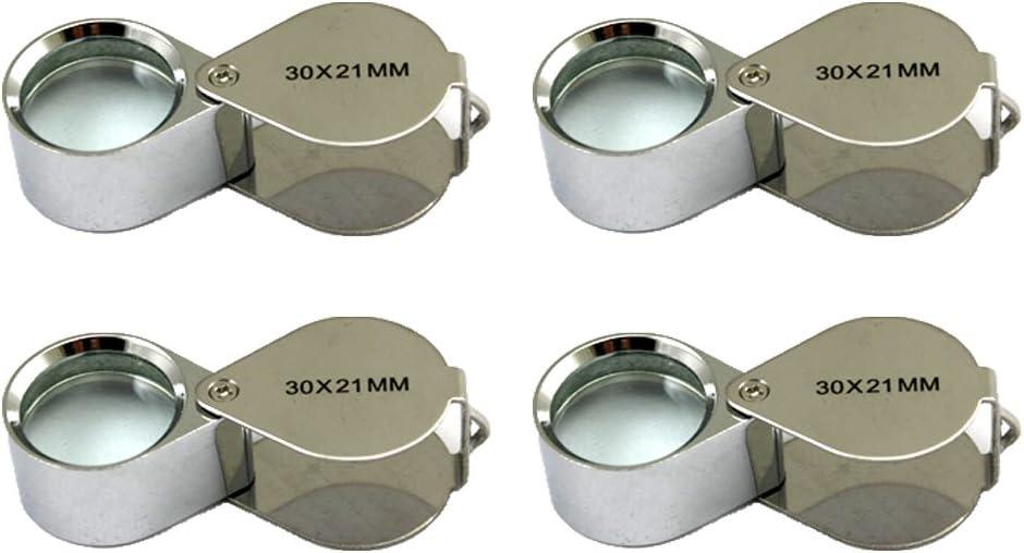 4 Pcs Superlatite Mini 30X 21mm Jeweler Manufacturer direct delivery Magnifier Jewelry Jeweler's Loupe Ma