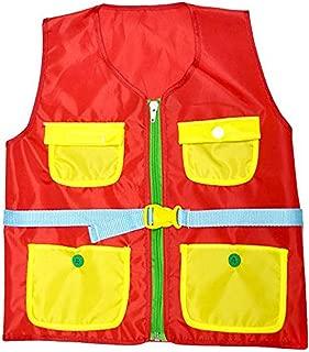 Iumer Learn Vest Montessori Children Early Educational Vest Props Basic Life Skills Toys,red