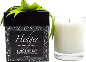 Timothy Jay Candles Classic 14 Ounce Long-Burning Hedges Fragrance Soy based wax