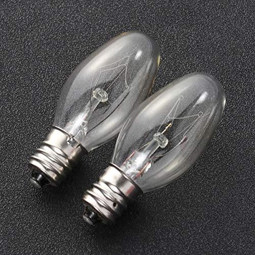 OSALADI 5 Bombillas de Lámpara de Sal E12 15W 110V Lámpara de Roca Salina Del Himalaya Bombillas de Repuesto de Luz Cálida para Lámparas de Sal Candelabros Caseros