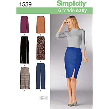 Simplicity 1559 Easy to Sew Womens Pants and Skirt Sewing Patterns Sizes 16-22