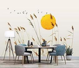behang 3D muurschildering riet moderne zon vogel muur muurschilderingen voor woonkamer en slaapkamer muurdecoratie 400cmx2...
