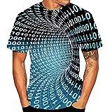 Aoogo Unisex 3D Whirlpool Druckten Sommer-beiläufige Kurze Hülsen-T-Shirts T-Stücke