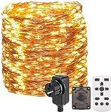 30M 300 LED Lichterkette Außen/Innen,OxyLED Lichterkette Draht aus Kupferdraht,8 Modi IP65 Wasserdicht mit Fernbedienung Lichterkette Steckdose...
