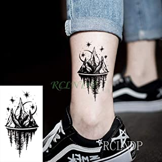 ljmljm 10 Piezas Impermeable Tatuaje Pegatina Daga Cuchillo Tatuaje Tatuaje Cuello muñeca pie Mano para niña Mujeres Hombres Grupo Cielo Azul 6x4 cm