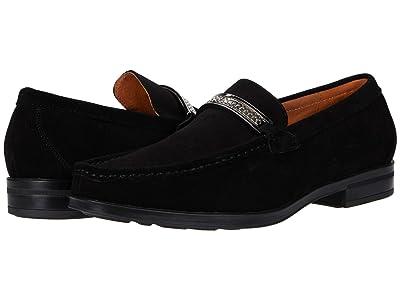 Stacy Adams Reginald Suede Slip-On Loafer (Black) Men