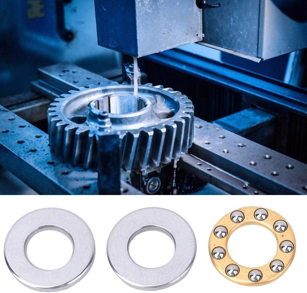 Metal High Precision Bearing Steel Thrust Bearing Small Frictional Resistance Flat Steel Bearing F6-12M 6124.5mm 10pcs High Speed for Machinery Manufacturing