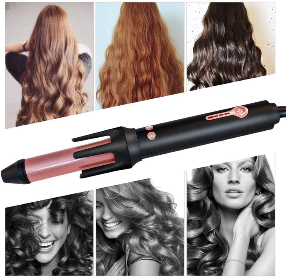 Professional and High Quality Hair Curler, Automatic curling iron heating hair styling tool ceramic wave hair hair styler-black Electric Curler (Color : Black) Black RJWxj