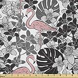Lunarable Flamingo-Stoff von The Yard, Flamingo-Muster