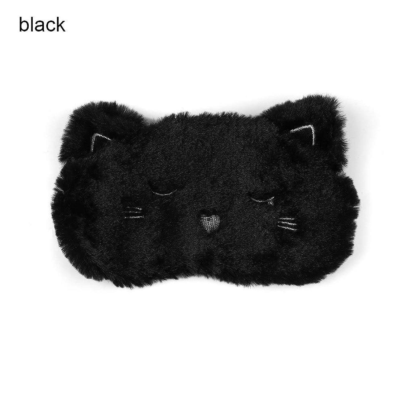 見積り暴露ランドリーNOTE アイマスク睡眠&いびき目マスク睡眠漫画黒白猫子猫アイマスクホーム旅行ゴーグルシェーディング睡眠昼寝アイシェード