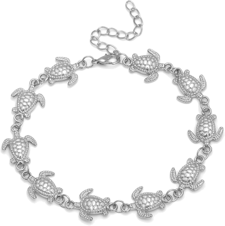 ink2055 Bohemian Beach Women Pineapple Turtle Anklet Sandal Barefoot Ankle Bracelet,Ankle Bracelets for Women Teen Girls Beach Jewelry Gifts