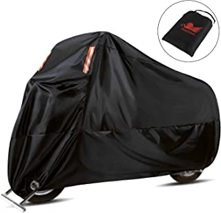 WinPower Outdoor Waterproof Motorcycle Cover Snow Bike Cover for Harley Davidson Honda Suzuki Kawasaki Yamaha and All Motors,  116 x 43 x 55 inch, 4XL