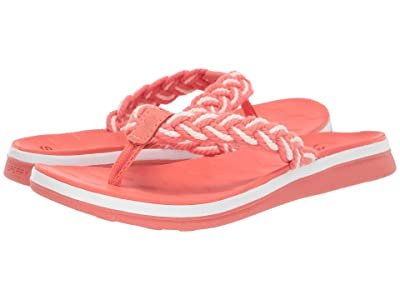 Sperry Adriatic Thong Braided (Coral/White) Women
